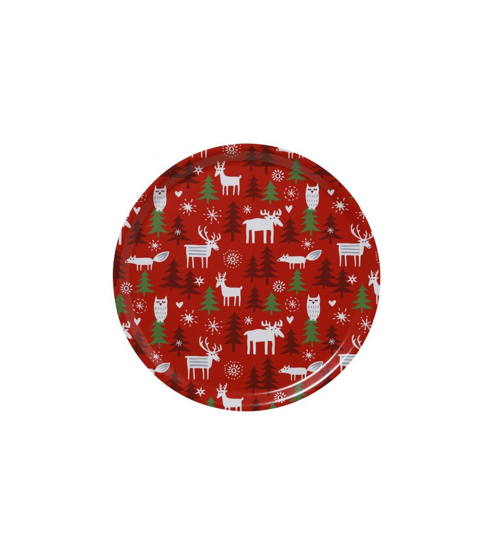 Bengt & Lotta Christmas Forest Tray -  Medium, Round