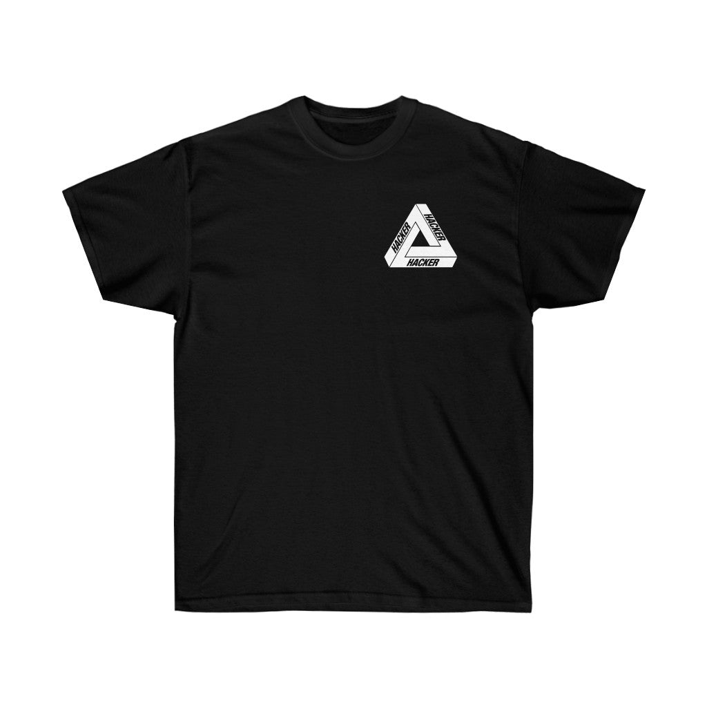 Hacker Hacker Hacker - Short Sleeve Black
