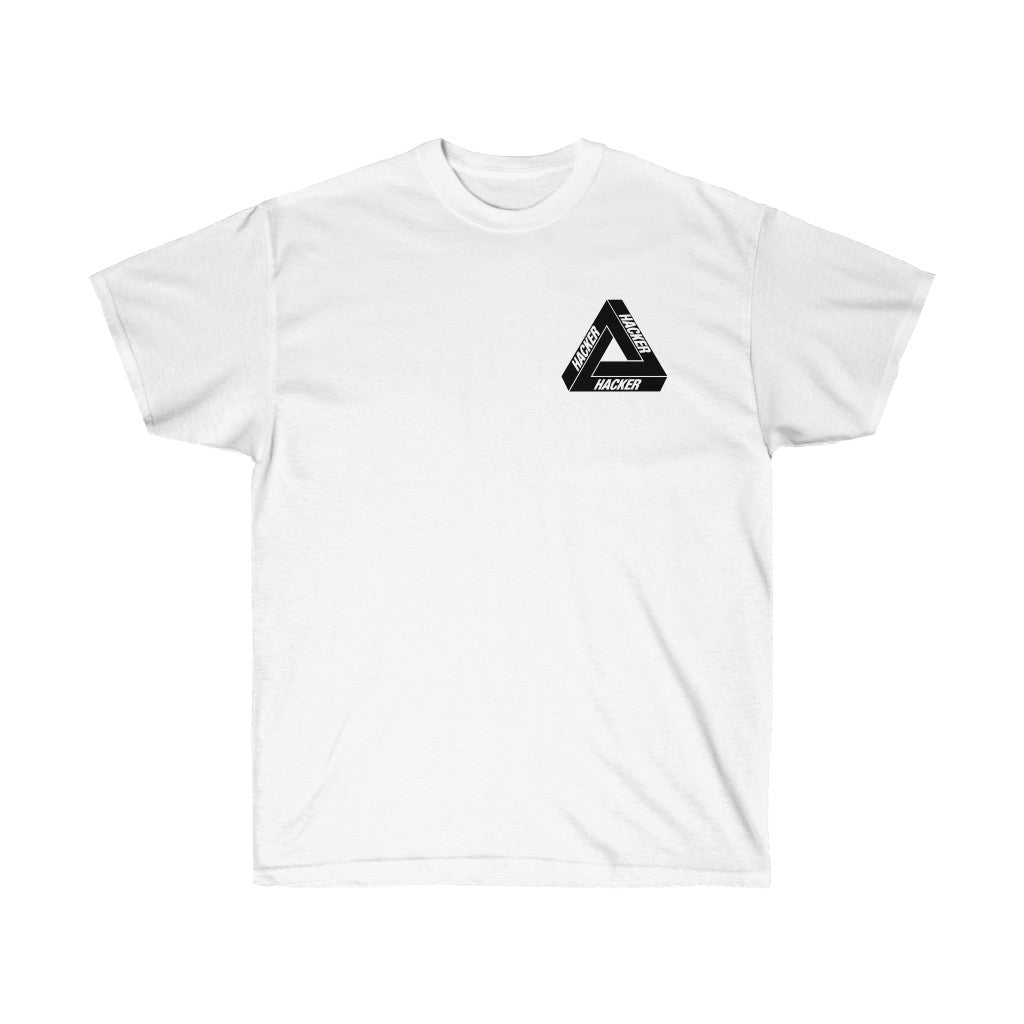 Hacker Hacker Hacker - Short Sleeve White