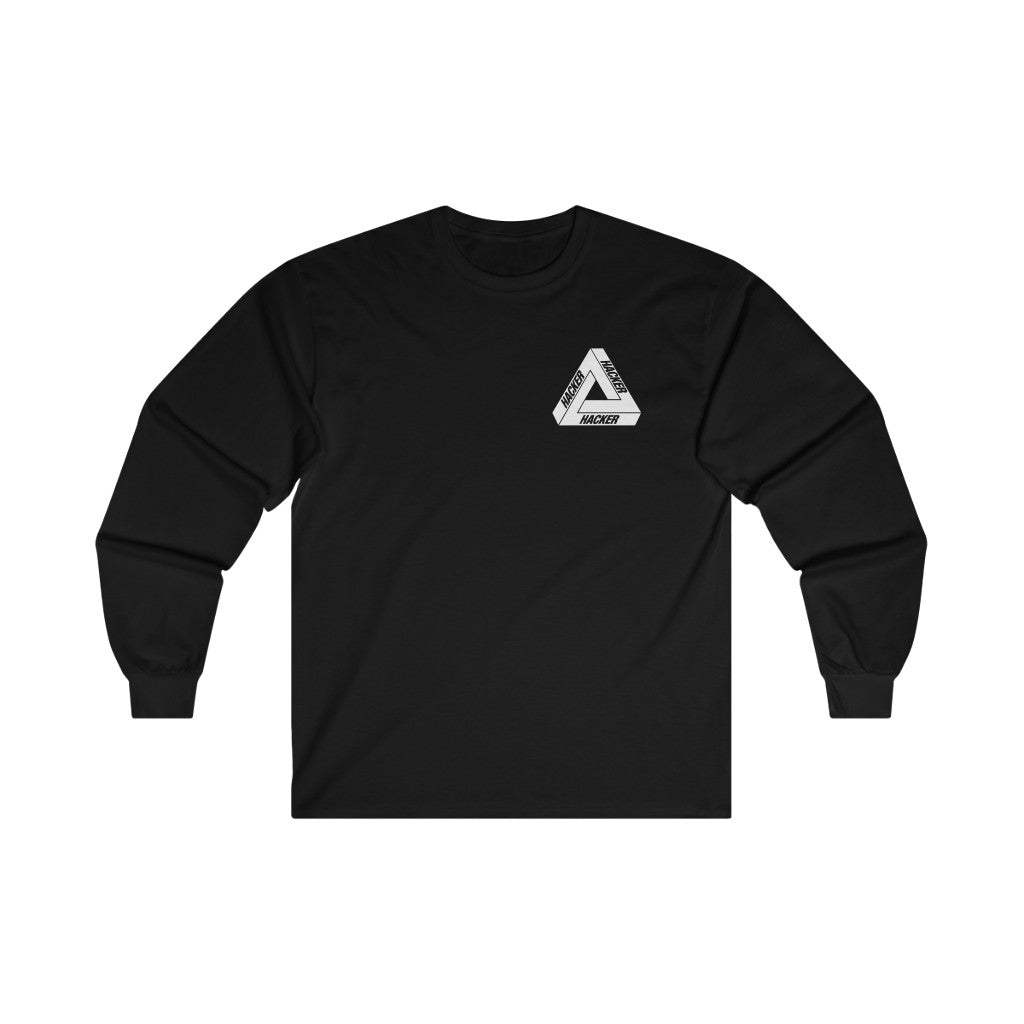 Hacker Hacker Hacker - Long Sleeve Black