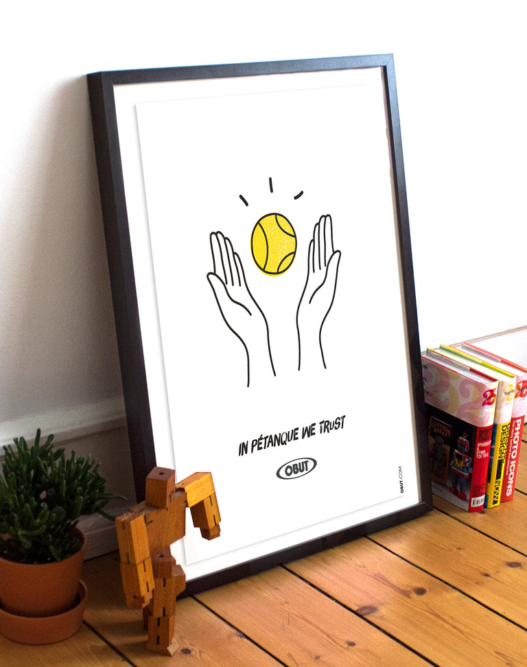 In pétanque we trust - Affiches sports design - vintages & entrepreneuriales