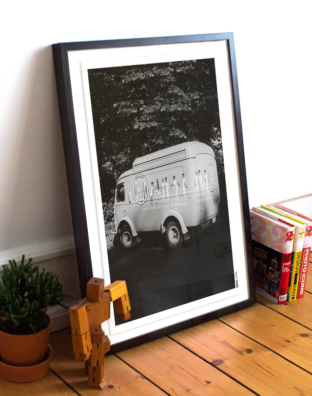 Affiche vintage Bus Obut - Lucky Punch