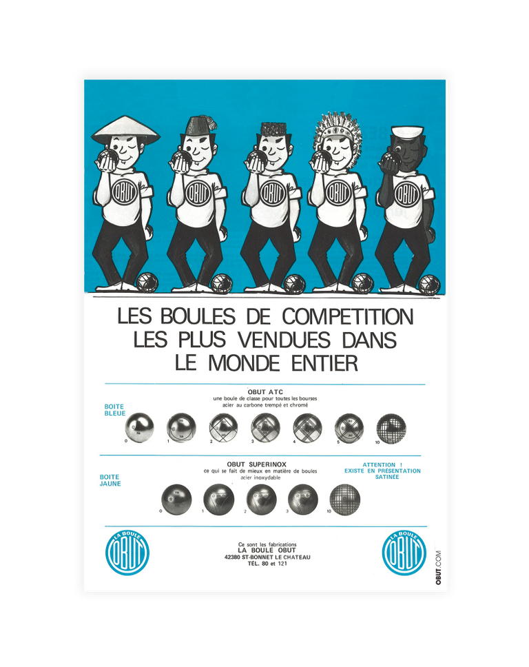 Affiche Vintage Boules Obut - Lucky Punch