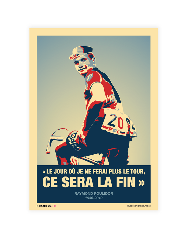 Raymond Poulidor - Affiches sports design - vintages & entrepreneuriales