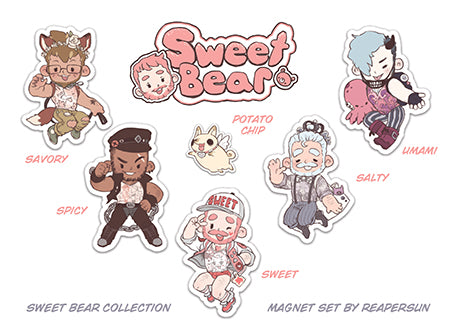 Sweet Bear Cosplay Magnet Set by Reapersun