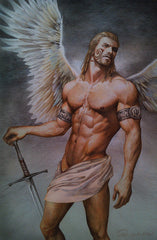Aenaluck Poster - Angel Warrior