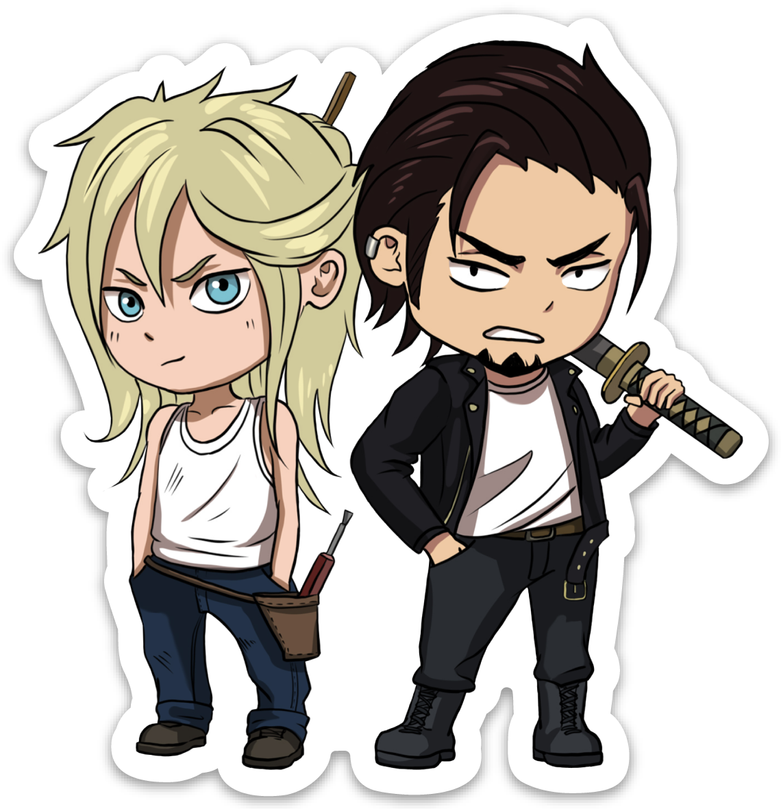 Orochi Chibi Magnets : Mouse and Sadao Duo