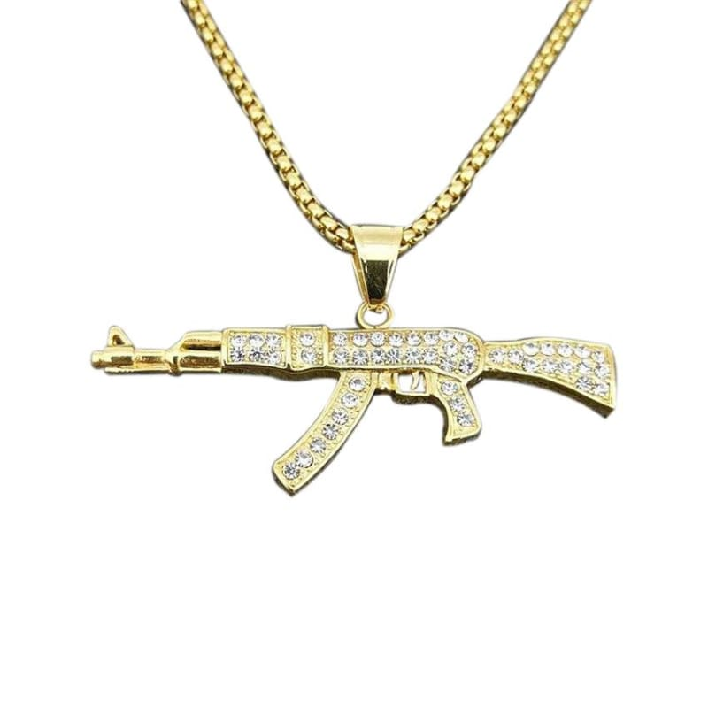 COLLIER MILITAIRE - AK-47 (OR)