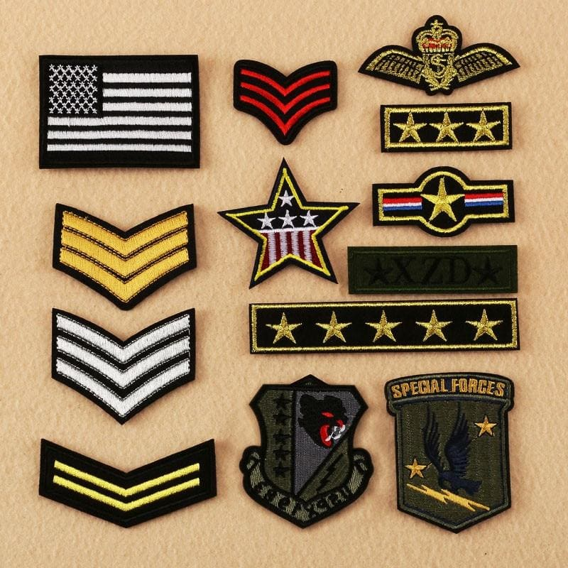 PATCH GRADE MILITAIRE