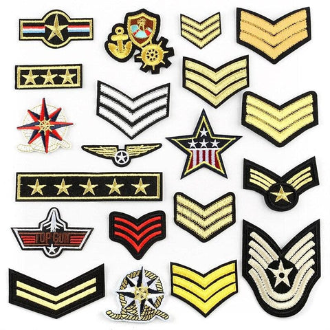PATCH MILITAIRE - GRADES
