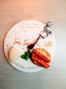 Personalised Christmas Chopping Board or Cheese Board