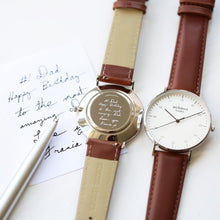 Load image into Gallery viewer, Own Handwriting Personalised Men's Watch