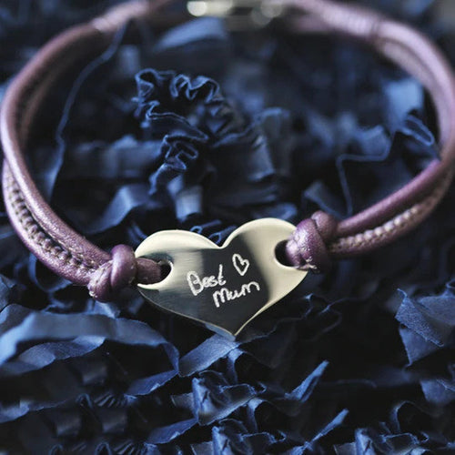 Own Handwriting Hearts Forever Ladies Bracelet