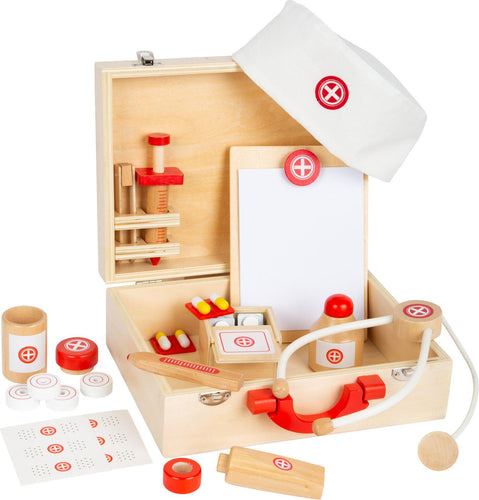 Personalised Wooden Doctor's Toy Set