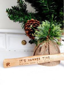 Personalised Hammer 16oz Steel and Hardwood Custom Made Gift