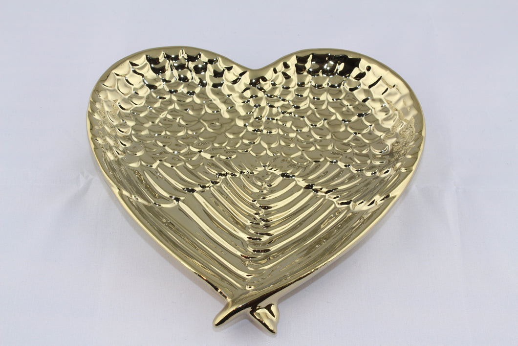 Angel Wing Trinket Dish Gold