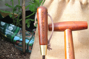 Personalised Garden Tool Set of Fork Trowel Dibber Gift