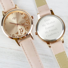 Load image into Gallery viewer, Personalised Engraved Ladies Watch in Rose Gold Valintine's Day Gift, Birthday or Mother's Day Anniversary Gift