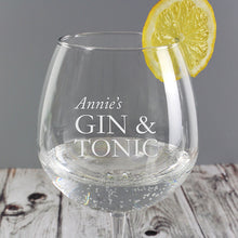 Load image into Gallery viewer, Personalised Gin & Tonic Glass
