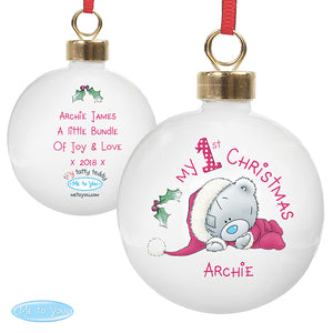 Personalised 1st Christmas Bauble from Me to You