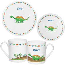 Load image into Gallery viewer, Personalised Dinosaur Breakfast Set