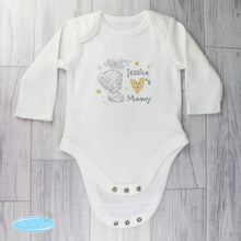 Load image into Gallery viewer, Personalised Tiny Tatty Teddy Baby Vest Heart Long-sleeved