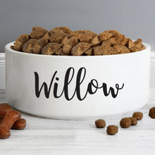 Load image into Gallery viewer, Personalised Large White Pet Bowl 16cm