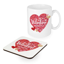 Load image into Gallery viewer, Valentine's Day Confetti Hearts Mug & Coaster Set