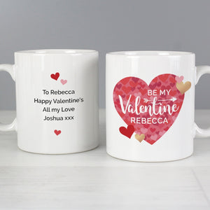 Valentine's Day Confetti Hearts Mug & Coaster Set