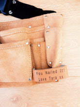 Load image into Gallery viewer, Personalised Leather Tool Belt with Hammer