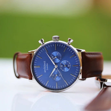 Own Handwriting Engraved Men's Watch With Walnut Strap