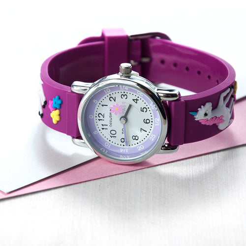Child's Personalised Engraved Unicorn Watch, Gift of First Watch, Special Achievement or Birthday Gift for Child