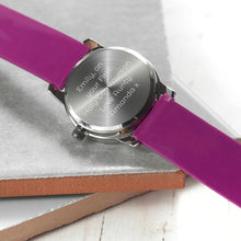 Load image into Gallery viewer, Child's Personalised Engraved Unicorn Watch, Gift of First Watch, Special Achievement or Birthday Gift for Child