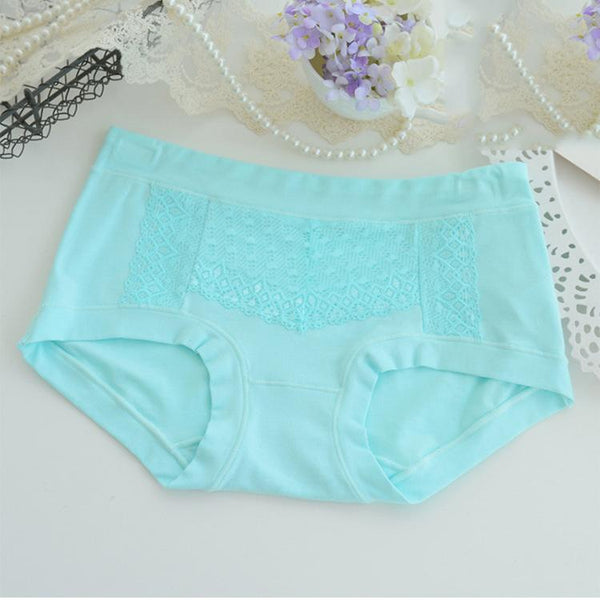 Chiczz Hollow solid color cotton waist panties