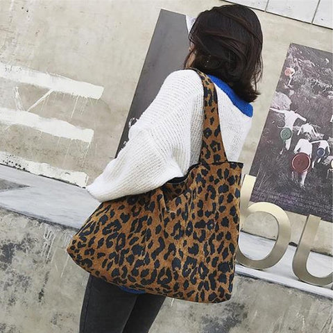 Chiczz Casual Chic Leather Big Volume Leopard Print One Shoulder Bag