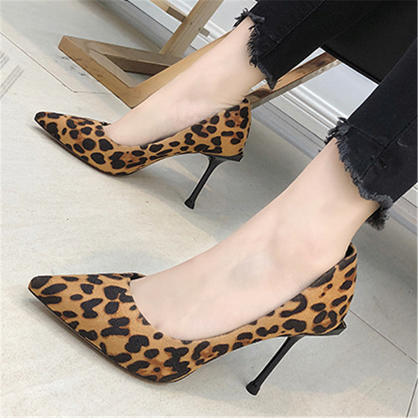 Chiczz Sexy leopard-tip pointed high heels