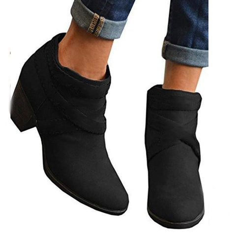 Chiczz Point Toe Heeled Ankle Boots