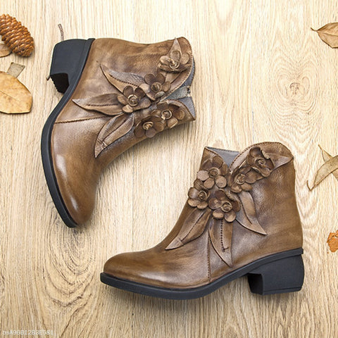 Chiczz Fashion Handmade Leather Women's Boots