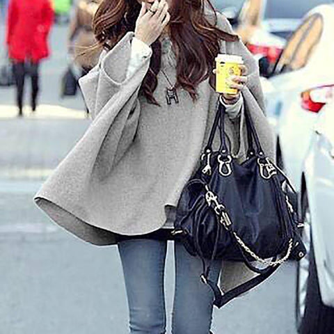 Chiczz Fur Collar Coat Woolly Cloak