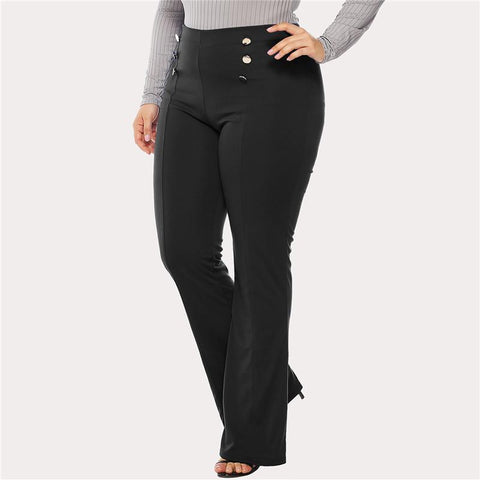 Chiczz Fashion Double-Breasted Plus-Size Casual Trousers