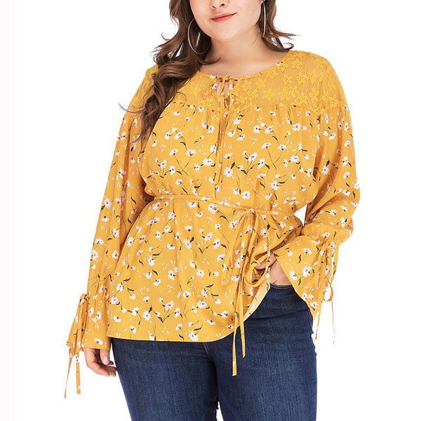 Chiczz Round Neck Casual Printed Colour Long Sleeve T-Shirt