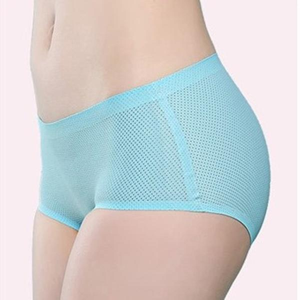 Chiczz Sexy hip breathable mesh soft stretch mid-rise panties