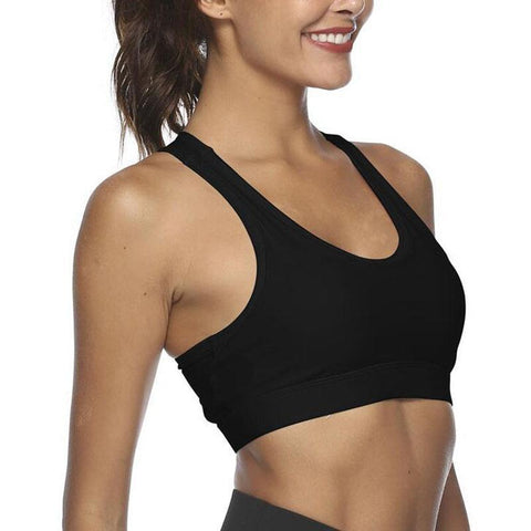 Chiczz Back Pocket Portable Phone Shock-Proof Sports Bra