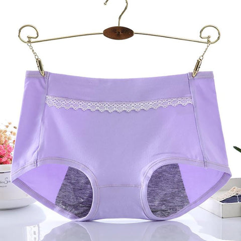 Chiczz Pure cotton waist lace side physiological period anti-side leakage panties