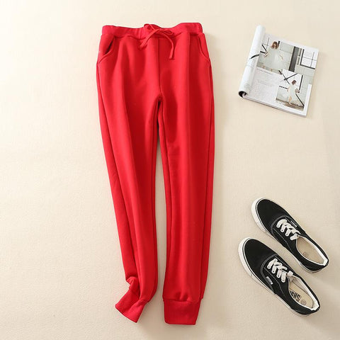 Chiczz Fashion casual loose pure color sweatpants