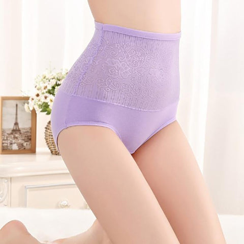 Chiczz No Trace High Waist Tummy Hip Cotton Large Size Ladies Panty
