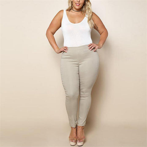 Chiczz Plus-Size Fashion Pure Color Leisure Trousers
