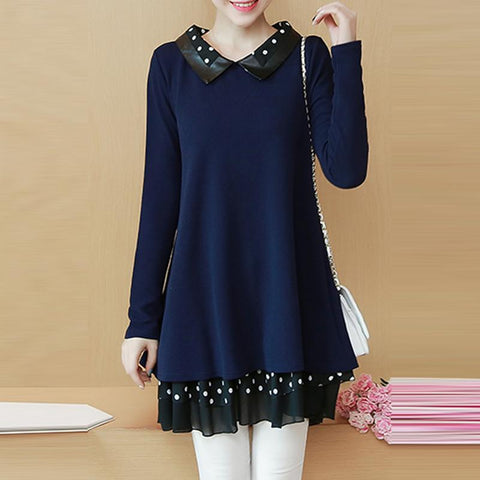 CHICZZ Stand Collar Long Sleeve Casual Dress