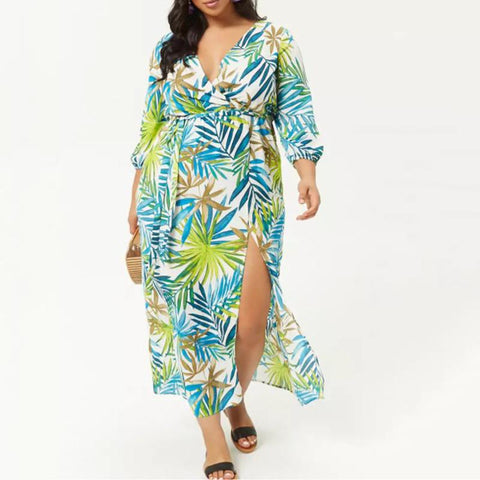 Chiczz Irregular Large Print Dress