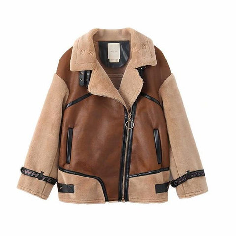 Chiczz Fashion Wild Fur One Female Coat